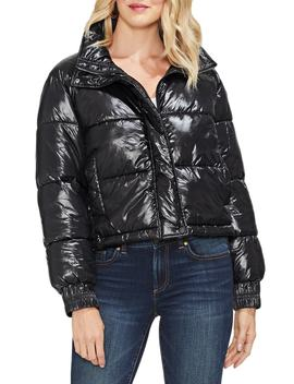 Stand Collar Puffer Jacket by Vince Camuto