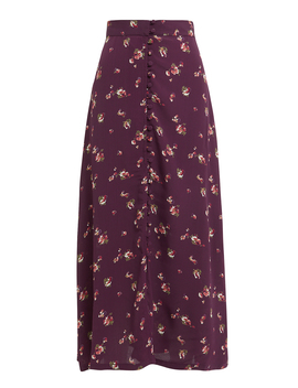 Sophia Button Front Midi Skirt by Flynn Skye