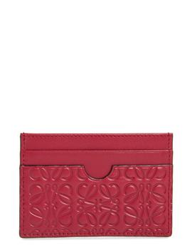 Embossed Leather Card Case by Loewe