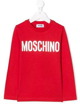 Logo Patch Sweatshirt by Moschino Kids