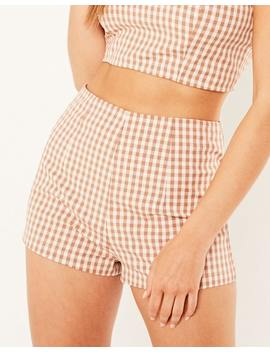 Zip Check Shorts by Glassons