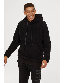 Fleece Hooded Top by H&M