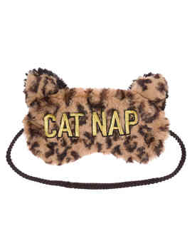 Cat Nap Scuff Slipper & Eye Mask Set by Dearfoams