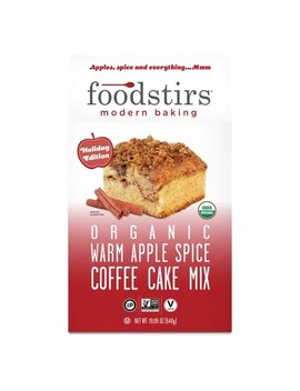 Foodstirs Organic Warm Apple Spice Coffee Cake Mix  19.05oz by Foodstirs Modern Baking