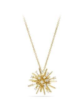 Supernova Small Pendant Necklace With Diamonds In 18 K White Gold by David Yurman
