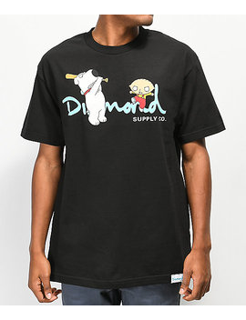 Diamond Supply Co. X Family Guy Og Script Black T Shirt by Diamond Supply