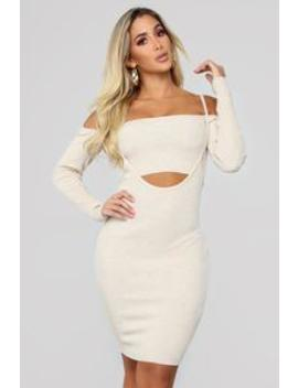 Girls Love Boys 2 Piece Dress   Oatmeal by Fashion Nova