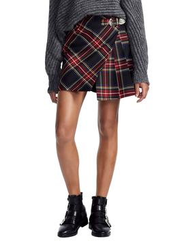 Plaid Pleat Skirt by Maje