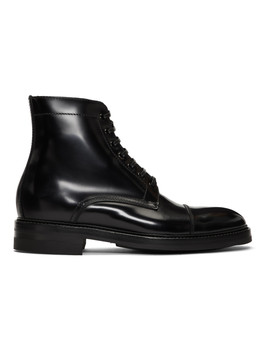 Black Master Boots by Paul Smith