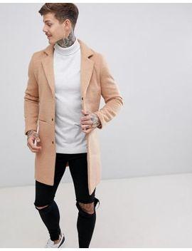 Boohoo Man Overcoat In Camel by Boohoo Man