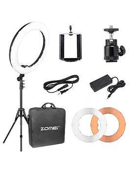 "Zomei Camera Photo/Video 14"" Outer 12"" Inner 480 W 5500 K Ring Fluorescent Flash Light With Stand Perfect For You Tube Facebook Live Stream by Zom Ei"