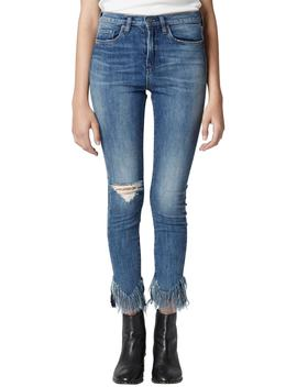 The Great Jones Frayed Skinny Jeans by Blanknyc