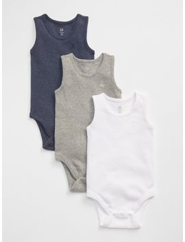 First Favorite Ribbed Tank Bodysuit (3 Pack) by Gap