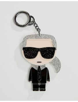 Karl Lagerfeld Iconic Karl Plexi Keychain by Karl Lagerfeld
