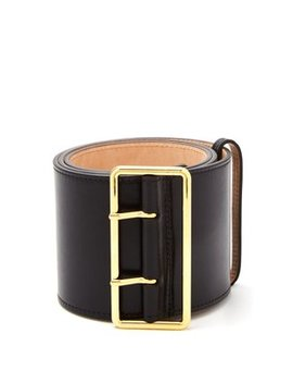 Military Wide Leather Belt by Alexander Mc Queen