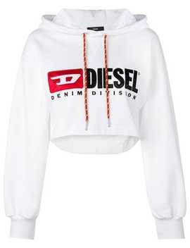 Cropped Logo Hoodie by Diesel