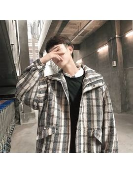 Osharism   Stand Collar Plaid Jacket by Osharism