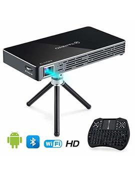 Vankyo Passport M50 Dlp Smart Mini Portable Projector, 100 Ansi Lumens W/Andriod 7.1 Os Pre Installed, Wi Fi, Hdmi, Usb Micro Sd Ports Free Mini Wireless Keyboard Tripod by Vankyo