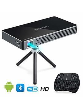 Vankyo Passport M50 Dlp Smart Mini Portable Projector, 100 Ansi Lumens W/Andriod 7.1 Os Pre Installed, Wi Fi, Hdmi, Usb Micro Sd Ports Free Mini Wireless Keyboard Tripod by Vankyo