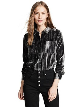 Moonstone Velvet Button Down Shirt by Splendid