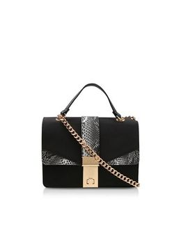 Carvela   Black 'olly Chain X Body Bag' Snakeskin Cross Body Bag by Carvela