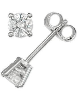 Diamond Stud Earrings (3/8 Ct. T.W.) In 14k Gold Or White Gold by Macy's