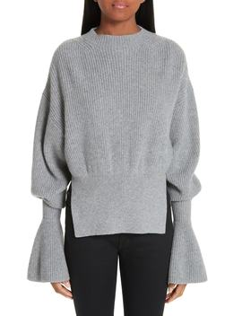 Side Split Merino Wool & Cashmere Blend Sweater by Alexander Wang