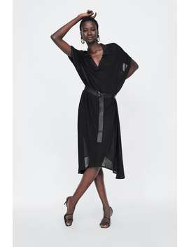 Belted Semi  Sheer Dress View All Dresses Woman by Zara