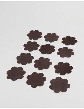 Magic Satin Rosette 10 Pack Water Resistant Nude Secret Nipple Covers In Dark by Magic