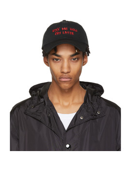 Ssense Exclusive Black 'kiss Me Now Cry Later' Cap by Nasaseasons