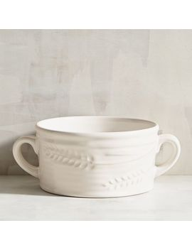 Harvest Wheat White Soup Bowl by Grateful Harvest Collection