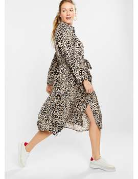 Animal Print Shirt Dress by Mango