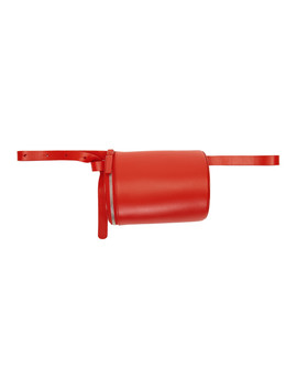 Ssense Exclusive Red Leather Belt Pouch by Building Block