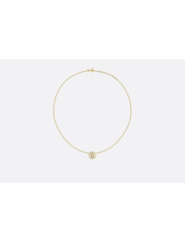Rose Des Vents Necklace, 18k Yellow Gold, Diamond And Mother Of Pearl by Dior