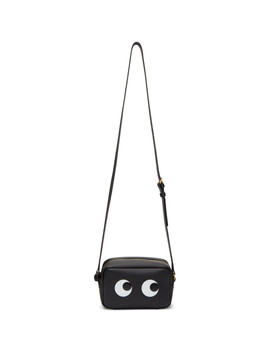 Black Mini Eyes Crossbody Bag by Anya Hindmarch