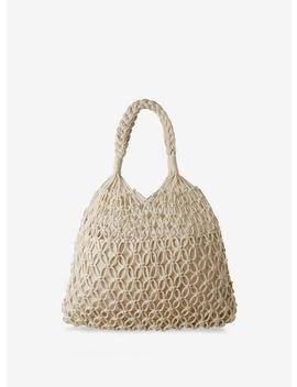 Cream Crochet Plait Handle Bag by Dorothy Perkins