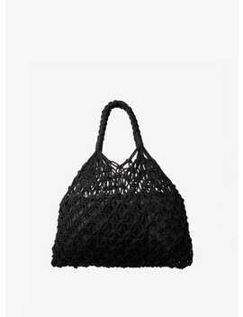 Black Crochet Plait Handle Bag by Dorothy Perkins