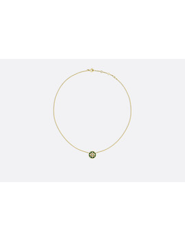 Rose Des Vents Necklace, 18k Yellow Gold, Diamond And Malachite by Dior