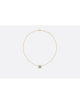 Rose Des Vents Necklace, 18k Yellow Gold, Diamond And Turquoise by Dior