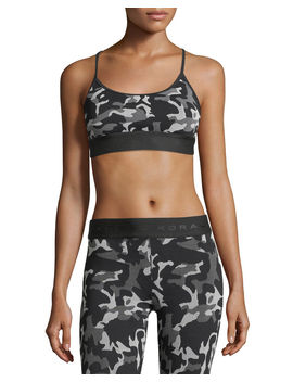 Sweeper Versatility Camouflage Jacquard Sports Bra by Koral Activewear