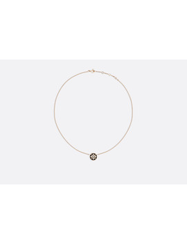 Rose Des Vents Necklace, 18k Pink Gold, Diamond And Onyx by Dior