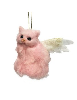 Faux Fur Cat With Wings Christmas Tree Ornament   Wondershop™ by Wondershop