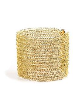 Wire Crochet Bracelet , Wide Cuff Bracelet In Gold by Amazon