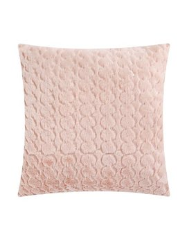 "Mainstays Sequin Scalloped Decorative Throw Pillow, 17"" X 17"", Blush by Mainstays"