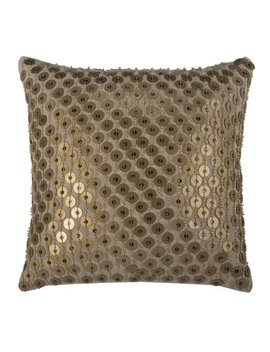 "Rizzy Home Decorative Poly Filled Throw Pillow Sequin 12""X12"" Silver by Rizzy Home"