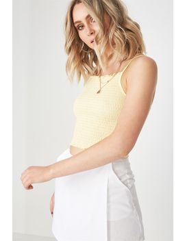 High Neck Shirred Top by Cotton On