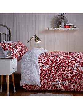 Skandi Stag Reversible Duvet Cover And Pillowcase Set by Dunelm