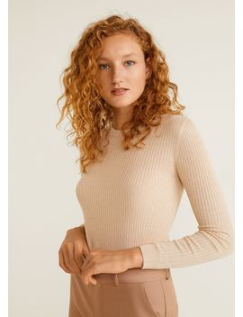 Cienki Prążkowany Sweter by Mango