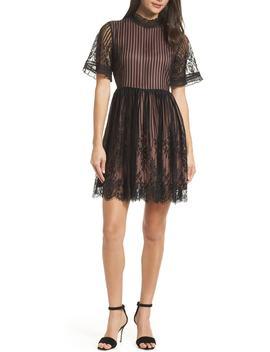 Shadow Stripe Lace Dress by Chelsea28