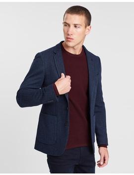 Herringbone Jersey Blazer by Burton Menswear